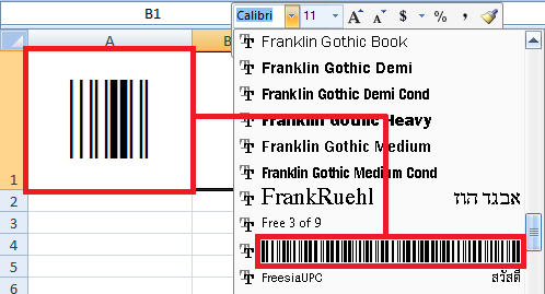 cara membuat barcode di excel